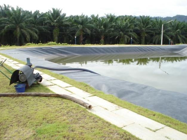 geomembrane HDPE pada pond BIOGAS